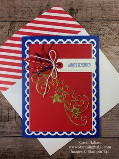 Stampin Pretty, Star Cards, Losing A Loved One, Happy Memorial Day, Card Making Inspiration, Paper Pumpkin, Stampin Up Cards, Fourth Of July, Cardmaking