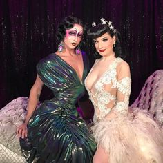 dailyactress:    Violet Chachki and Dita Von Teese
