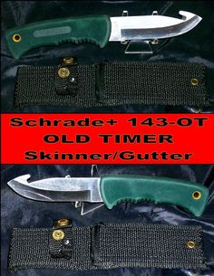 Schrade + knife 143-OT Old Timer Skinner Jack Black Canvas sheath good Condition @ ditwtexas.webstoreplace.com