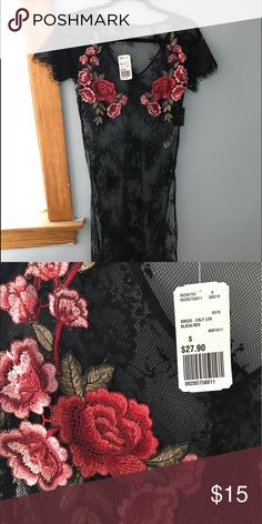 Black lace dress This dress is from forever 21. Brand New Topshop Dresses Midi
