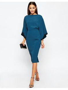 Buy ASOS Embellished Trim Kimono Midi Dress at ASOS. Get the latest trends with ASOS now. Winter Wedding Outfits, Winter Dresses, Evening Dresses, Outfit Winter, Holiday Outfits, Dresses To Wear To A Wedding Winter, Dress Wedding, Summer Dresses, Holiday Dresses
