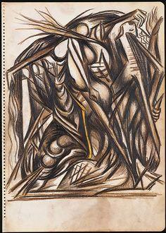 Jackson Pollock (American, Cody, Wyoming East Hampton, New York ) Untitled Action Painting, Drip Painting, Jackson Pollock, Max Ernst, Pablo Picasso, Pollock Paintings, Oil Paintings, Art Drawings, Pencil Drawings
