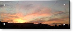Bright Sunset On Ranmore Acrylic Print by Julia Woodman