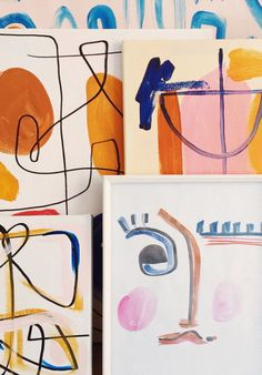 modern art and wall art. Painting Inspiration, Art Inspo, Modern Art, Contemporary Art, Art Et Illustration, Art Moderne, Oeuvre D'art, Doodle, Design Art