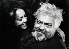 Jeanne Moreau & Orson Welles.