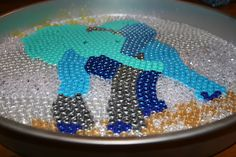 Melted Bead Elephant Tutorial - MISCELLANEOUS TOPICS - I did this for a lovely lady in a swap. Pony Bead Patterns, Craft Patterns, Beading Patterns, Melted Bead Crafts, Pony Bead Crafts, Fun Crafts, Diy And Crafts, Crafts For Kids, Arts And Crafts