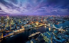 night view of london