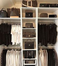 Walk In Closet Ideas - Do you need to whip your little walk-in closet into shape? You will certainly enjoy these 20 incredible tiny walk-in closet ideas as well as transformations for some . Master Closet, Closet Bedroom, Walk In Closet, Diy Bedroom, Interior Design Career, Decor Interior Design, Room Interior, White Wardrobe, Dream Closets