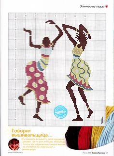 African x-stitch pattern Cross Stitch Music, Cute Cross Stitch, Modern Cross Stitch, Cross Stitch Charts, Cross Stitch Patterns, Peyote Patterns, Loom Patterns, Beading Patterns, Cross Stitching