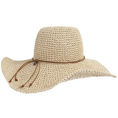 Eye-catching straw hat with oversized brim offers shade and allows for a cool breeze to stream through. Contrast-coloured leather strap with Tommy Hilfiger charm and beaded ends along the base. Tommy Hilfiger, Raffia Hat, Crochet Clothes, Amanda, Shoe Bag, Straw Hats, Polyvore, Leather, Stuff To Buy