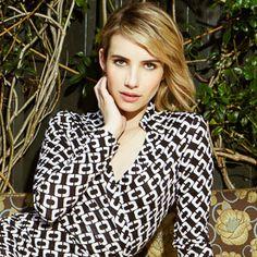 First Look! Emma Roberts is Diane von Furstenberg's Next Journey of a Dress Star  #InStyle