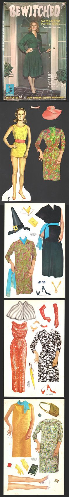 Bewitched paper dolls #recortable #scissorwork #papertoy- Carefully selected by GORGONIA www.gorgonia.it