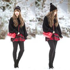 Ivy Xu - American Apparel Sweater, American Apparel Skirt, Yves Saint Laurent Bag - Turning point