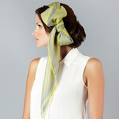The Sidney - Gray & Neon Yellow Stripes.  http://www.terracottanewyork.com/collections/scarves/products/the-sidney-gray-yellow-stripes