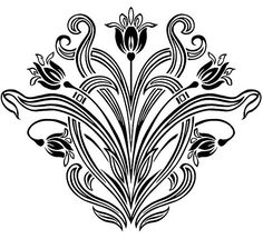 Art Nouveau Floral Designs 3 | This is a free download from … | Flickr