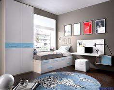 H109_ Compón con estilo la #habitacion de los niños! Mesa up, cama compacta #SystemQB y nuestro nuevo armario Horizon!