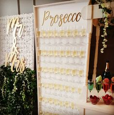 Unique and unusual Wedding Reception Idea for 2019, Baby Shower, Christening or Corporate Event! Modern Prosecco Wall Hire. North West UK, Manchester