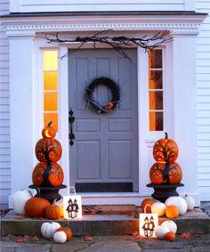Halloween Deko selber machen - 15 Bastelideen - Kürbis schnitzen