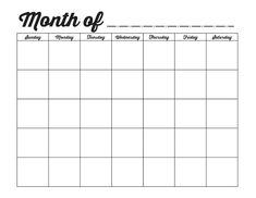 calendar template printable    http://calendarprintablehub.com/calendar-template.html