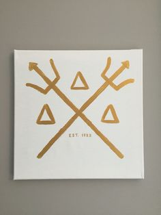 Tri delta canvas trident cross www.dashofserendipity.com