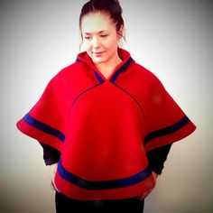 Árbe luhkka in red wool. Sons Of Norway, Nye, Clothing Patterns, Vikings, Rain Jacket, Windbreaker, Culture, Wool, The Originals