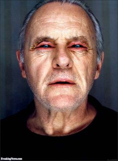 Anthony Hopkins with Mouth Eyes