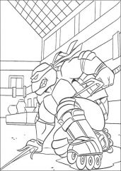 The Turtles Ninja Raphael Coloring Pages