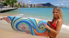 Hawaiian Durable Flip Flops,Tropical Hawaii Hibiscus Surfing Girl Silhouette Surfboard Retro Themed Artprint for Leisure Activities,US Size 8