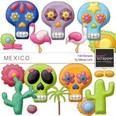 México Felt Kit Elementos
