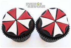 Resident Evil Umbrella corporation Cupcakes para Halloween