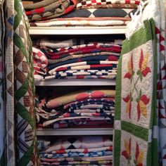 My dream, to have a linen press filled with homemade quilts
