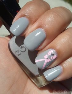 Pink & Grey - The epitome of simple & girly. @Zoya Nail Polish Dove