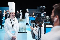 Clare Smyth, the Honorary President of this 2020 edition of the Bocuse d'Or Europe, on stage #bocusedor #bocusedoreurope #roadtolyon Clare Smyth, Bocuse Dor, Presidents, Stage, Europe