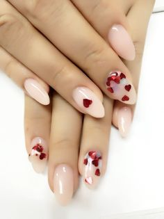 Valentine's Day nail Art #Nails #art #fingernails #heart