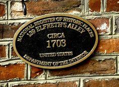 Elfreths Alley Plaque