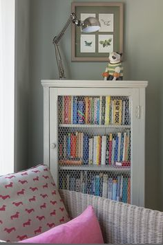 A lovely cabinet turned bookshelf.