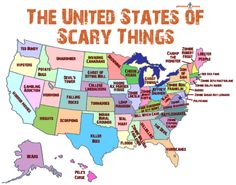 Thedailywhat Geographic Infographic Of The Day The United States Of Scary Things Got