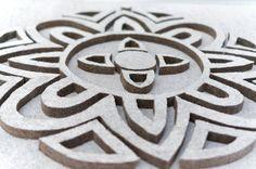 Taideakustointi Sani Miekkala - Karma, akustoiva taideteos, materiaali turveakustiikkalevy, 100 x 180 x 4 cm, osasto 7g21 #habitare2015 #design #sisustus #akustointi #taide #akustiikkataulu