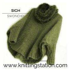 Sigh poncho sweater pattern by Tracy Schmittgen the knitting station - Knitting Crochet Poncho Pullover, Poncho Sweater, Knitted Poncho, Poncho Knitting Patterns, Hand Knitting, Sweater Patterns, Knitting Machine, Mohair Sweater, Knit Crochet