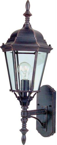 Maxim Lighting 85103RP One Light Frosted Glass Wall Lantern Rust Patina * Find out more by clicking the VISIT button