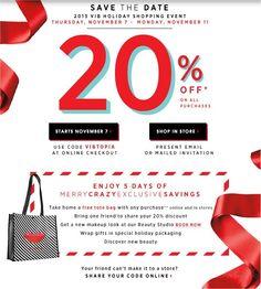 Sephora VIB Sale 2013 + 20% off promo code