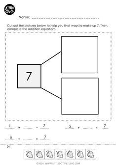 Printable worksheets cut out worksheets : free number bonds worksheet. Numbers Kindergarten, Kindergarten Math Worksheets, Math Numbers, Literacy Activities, Ordinal Numbers, Math 2, Math Teacher, Number Bonds Worksheets, Free Math Worksheets