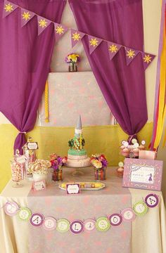 A RAPUNZEL PARTY?!?!?! This may be perfect for K given her love of Tangled