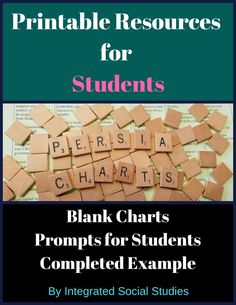 PERSIA Charts are possibly the easiest way for students to sort   information about any given culture. Do not just take notes, take PERSIA   Chart notes! I have included both a color friendly printer version and a   standard black and white version. (Sometimes you just need to print in   color!)