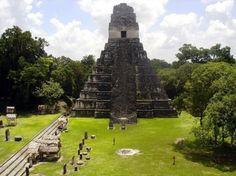 Ruinas Mayas en Tikal, Guatemala.
