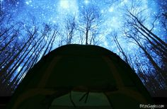 Indoor Camping: A Family Adventure - Plan an indoor camping trip for your family complete with s'mores, fishing, shadow puppets and sleeping beside the stars!