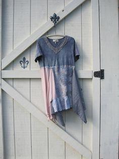 Lagen look dress XLXXL Boho dress rustic tattered by ShabyVintage, $52.00