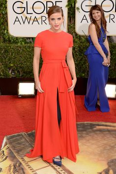 Emma Watson in Dior, 2014 Golden Globes