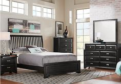 Belcourt Black 5 Pc Queen Slat Bedroom . $799.99.  Find affordable Queen Bedroom Sets for your home that will complement the rest of your furniture.