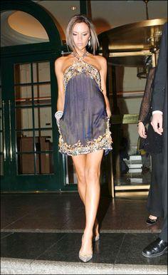 Victoria Beckham short Dresses   ... victoria-beckham-golden-globes-after-party-gray-dress-victoria_beckham